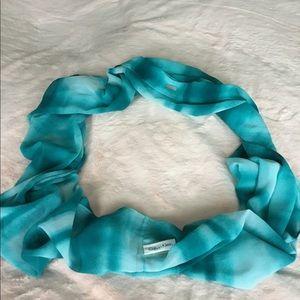 Calvin Klein lightweight turquoise scarf
